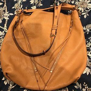 SOLD - Large Rebecca Minkoff Moto Bag Tan Gold EUC